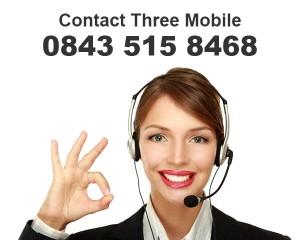 Contact Three on 0843 515 8468